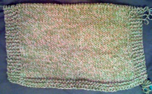 Dirty Girl Stockinette Washcloth (in progress)